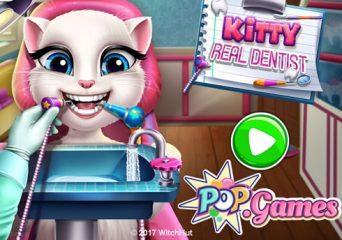 Kitty cica fogorvosnál