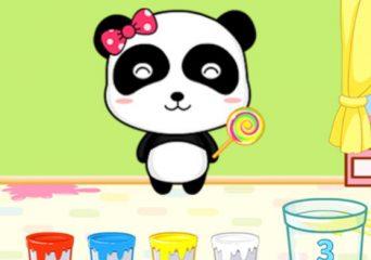 Pandás színező