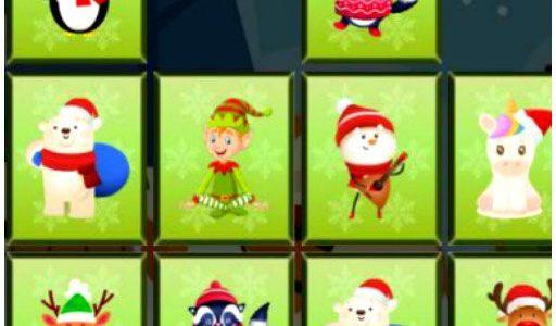 Karácsonyi állatos memóriajáték